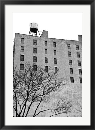 Framed Twenty-six Windows (b/w) Print