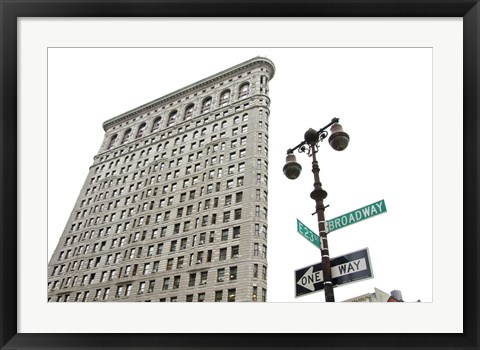 Framed Flatiron Building with Lamp Print