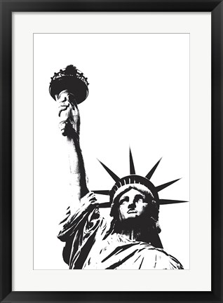 Framed Statue of Liberty (outline) Print