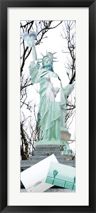 Framed Statue of Liberty Collage Print