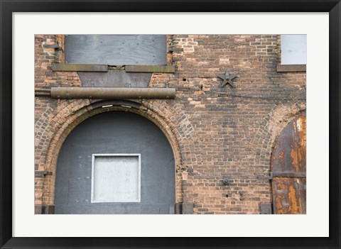 Framed Bricks and Arches I Print