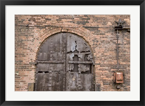 Framed Bricks and Arches II Print