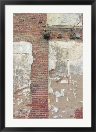 Framed Brick Wall and White Paint Print