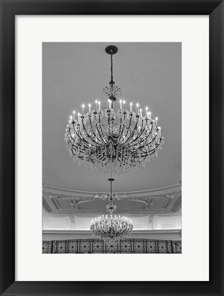 Framed Chandeliers (detail) Print