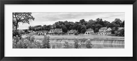 Framed Boathouse Row (b/w) Print