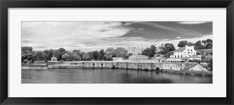 Framed Waterworks Panorama (b/w) Print