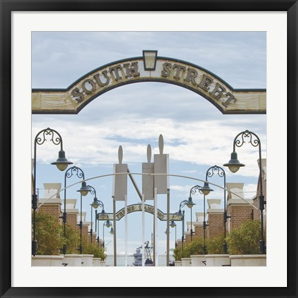 Framed South Street Print
