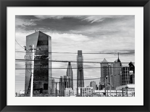 Framed Industrial Skyline (b/w) Print