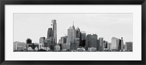 Framed Philly Panorama (b/w) Print