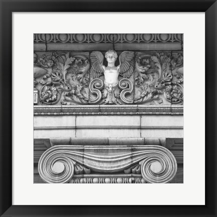 Framed Angel I (b/w) Print