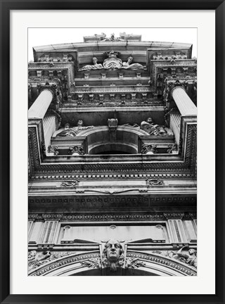 Framed City Hall, Looking Up (b/w) Print