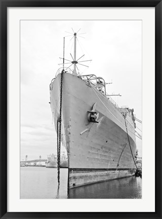 Framed Naval Ship (b/w) Print