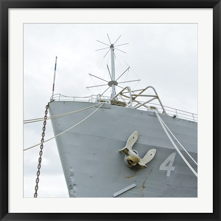 Framed Ship Bow Print
