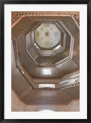 Framed City Hall Stairwell Print