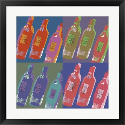 Framed Wine Bottles Print