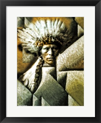 Framed Chief Garfield - Jicarilla Apache Print