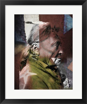 Framed Hoop on the Forehead - Crow Indian, Montana Print
