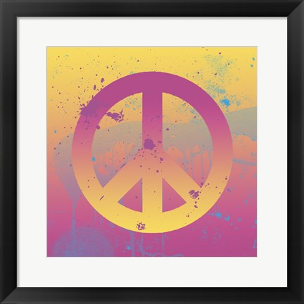 Framed Far-out Peace Print