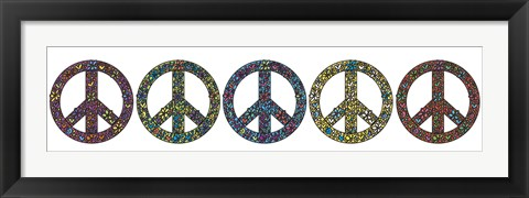 Framed Peace Now! Print