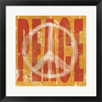 Framed Think Peace Print