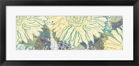 Framed Flower Panel II Print