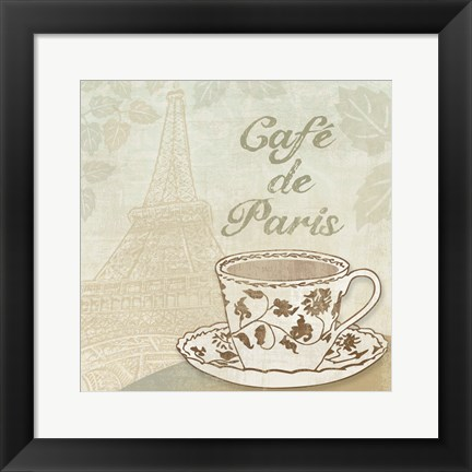 Framed Cafe de Paris Print