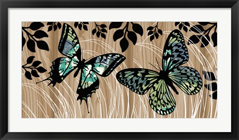 Framed Butterfly Patchwork Print