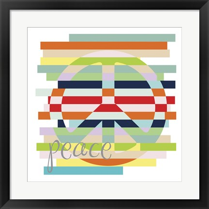 Framed Peace Rainbow Print