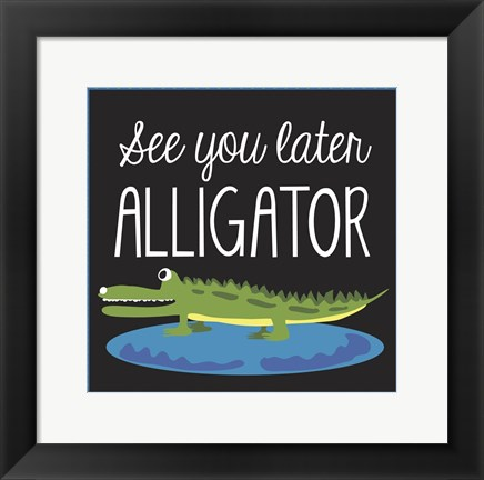 Framed Alligator Print