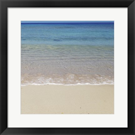 Framed Beach V Print