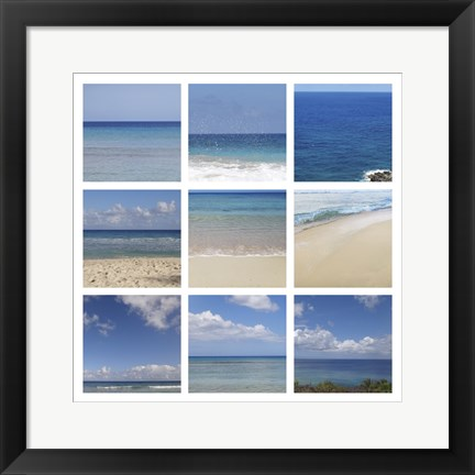 Framed Beach Collage Print