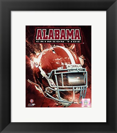 Framed University of Alabama Crimson Tide Helmet Composite Print