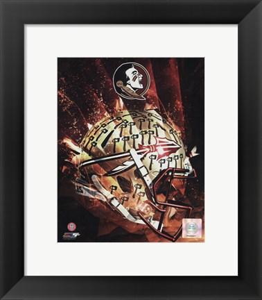 Framed Florida State University Seminoles Helmet Composite Print