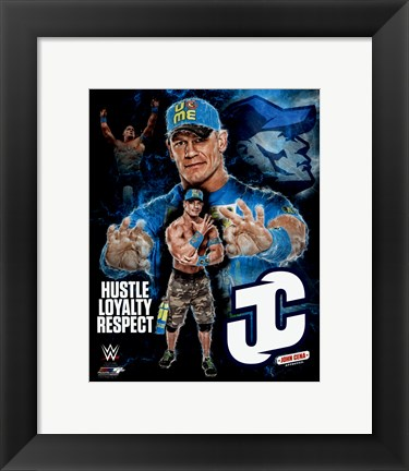 Framed John Cena 2015 Portrait Plus Print