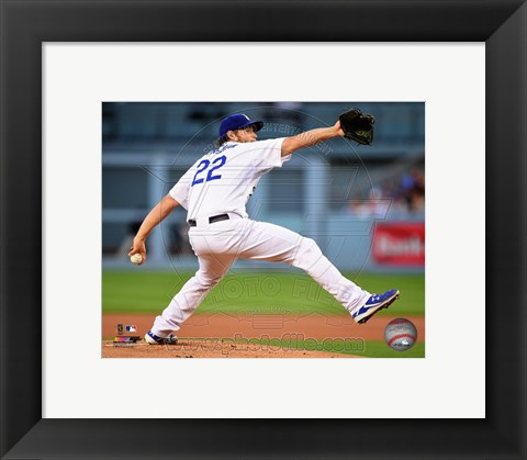 Framed Clayton Kershaw 2015 Action Print
