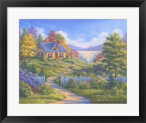Framed Summer Cottage Print