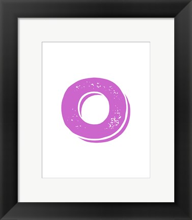 Framed O in Pink Print