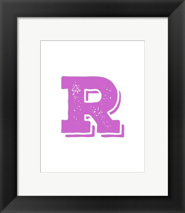 Framed R in Pink Print