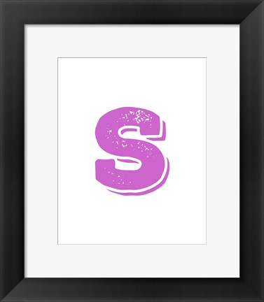 Framed S in Pink Print