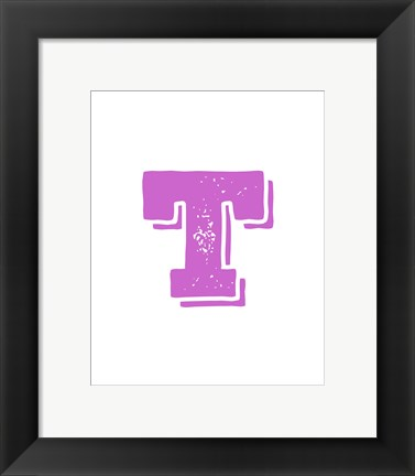 Framed T in Pink Print