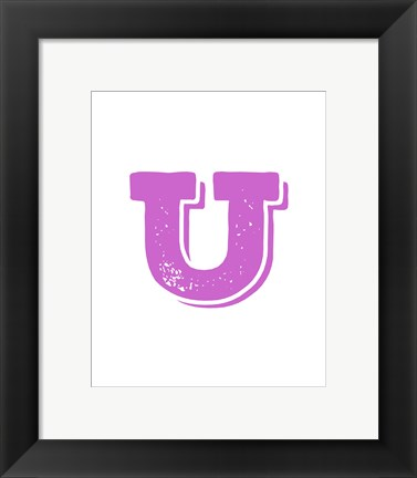 Framed U in Pink Print