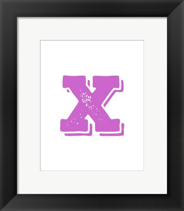 Framed X in Pink Print