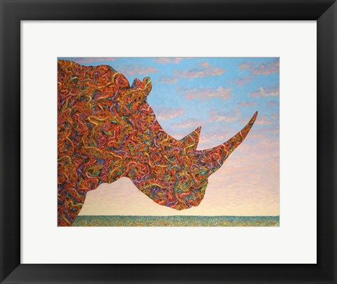 Framed Rhino-Shape Print