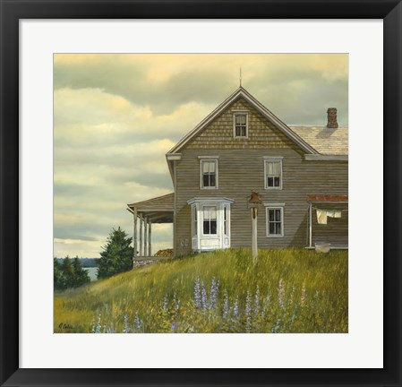 Framed Door yard Lupines Print