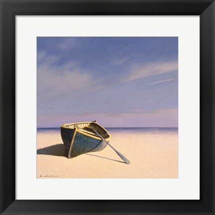 Framed Beached Boat 1 Print