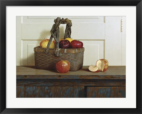 Framed Still Life With Apples Print