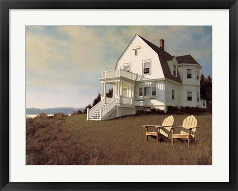 Framed Oceanfront View Print