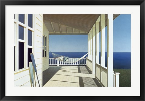 Framed Porch Shadows Print