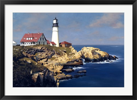 Framed Coastal Lighthouse Print
