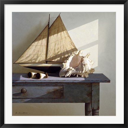 Framed Shell & Sail Print